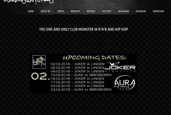 DJ Webseite