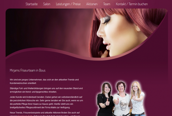 Friseur Webseite