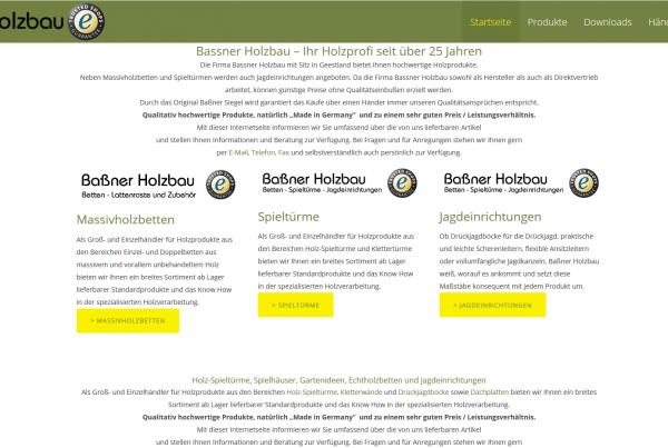 Baßner Holzbau Webseite
