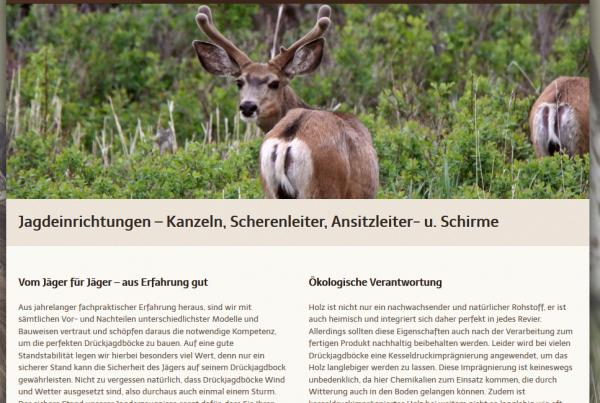 Jäger Webseite