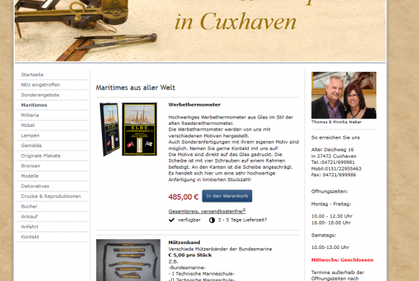 Kunst & -Antiquitäten Cuxhaven