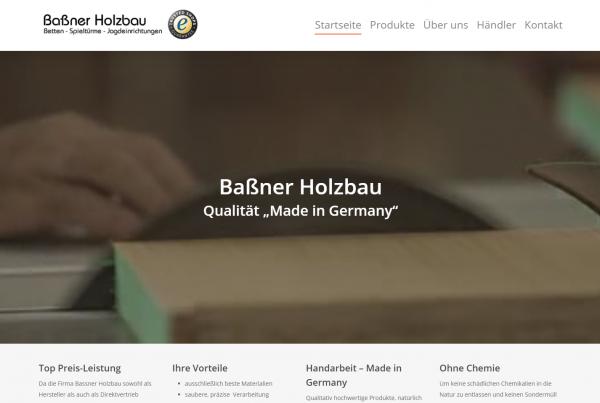 Bassner Holzbau – Relaunch