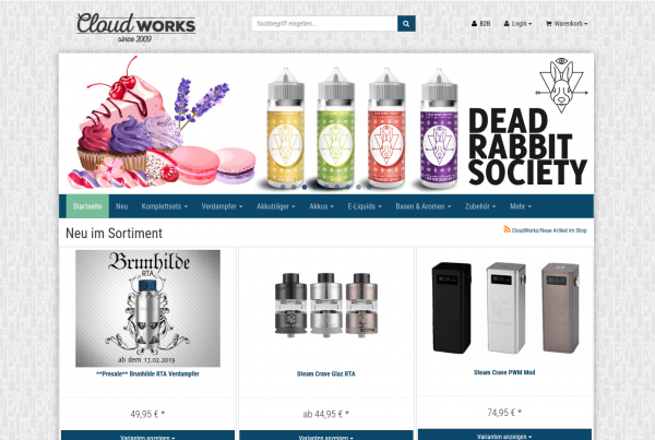 e-Zigaretten Onlineshop