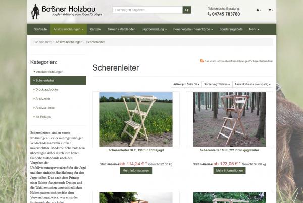 Onlineshop für Jagdeinrichtungen