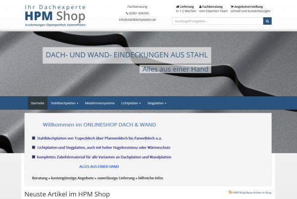Stahlbleche Onlineshop