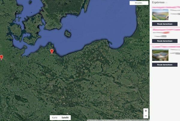 Standortkarte für Solaranlagen